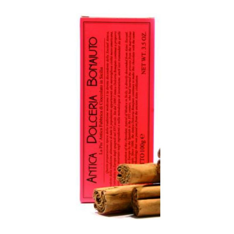 Tavoletta di cioccolato di Modica alla cannella Bonajuto  gr. 100