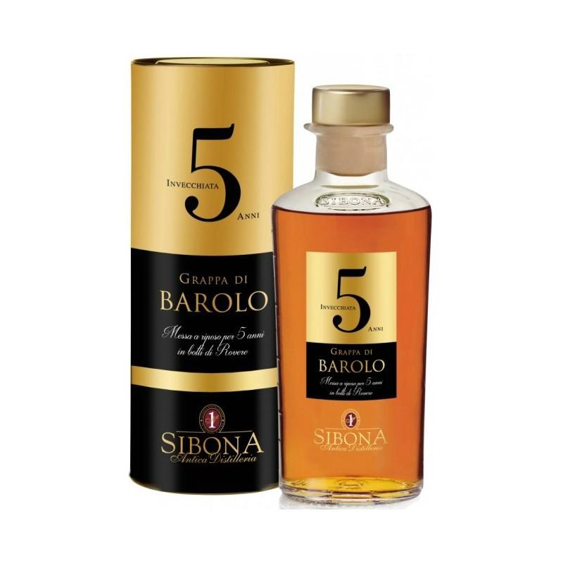 Grappa di Barolo 5 Anni Sibona 0,50 lt.