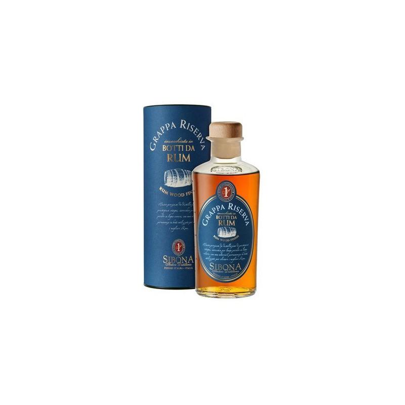 Grappa Riserva invecchiata in Botti da Rum Sibona 0,50 lt.