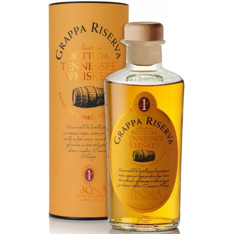 Grappa Riserva invecchiata in Botti da Whisky Sibona 0,50 lt.