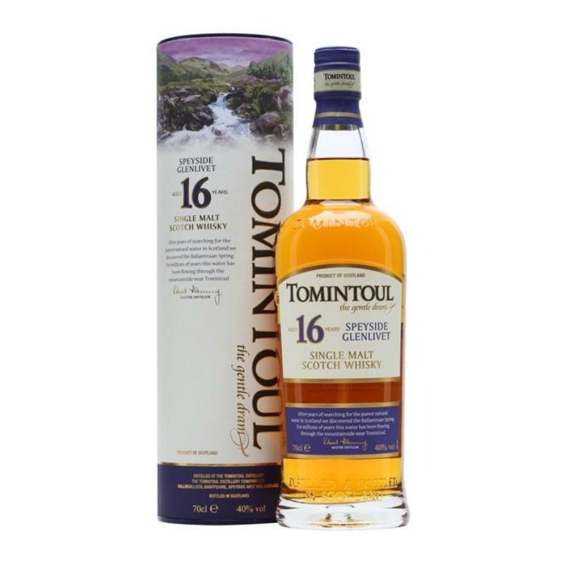Whisky Single Malt 16 Years Tomintoul 0,70 lt.